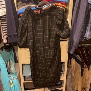 Loft dress with bubble sleeve